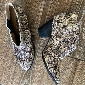 Splendid leather & calf hair ankle booties